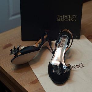 Badgley Mischka Black Sling Sandal NWB